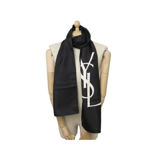 bcf71ce30ebc foulard yves saint laurent logo ysl echarpe en