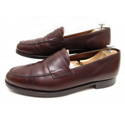 CHAUSSURES JOHN LOBB LOPEZ 10E 44 MOCASSIN CUIR MARRON LOAFER BROWN SHOES 1225€