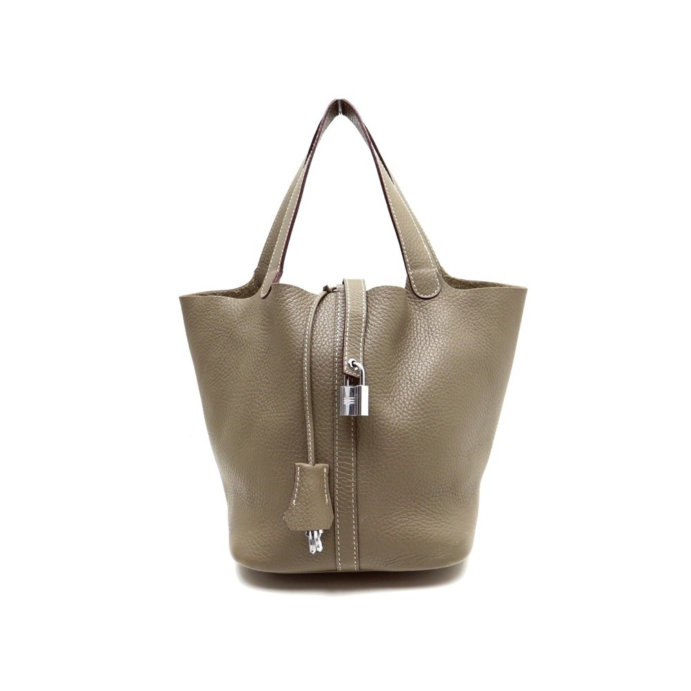 9a231b20e113 SAC A MAIN HERMES PICOTIN LOCK MM CUIR TAURILLON CLEMENCE ETOUPE HAND BAG  2130€. Loading zoom