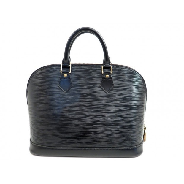 SAC A MAIN LOUIS VUITTON ALMA PM EN CUIR EPI NOIR LEATHER HAND BAG PURSE 1520€