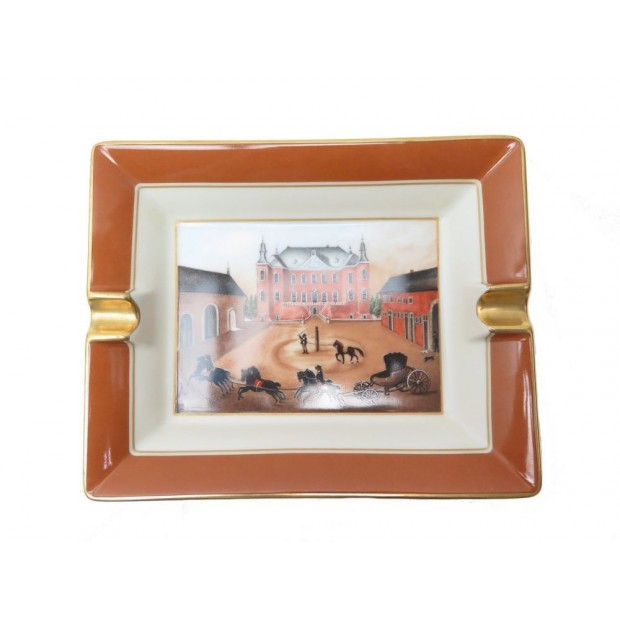 CENDRIER HERMES VIDE POCHE EN PORCELAINE CHATEAU CHEVAUX DRESSAGE ASHTRAY  510€ 68f7f916316