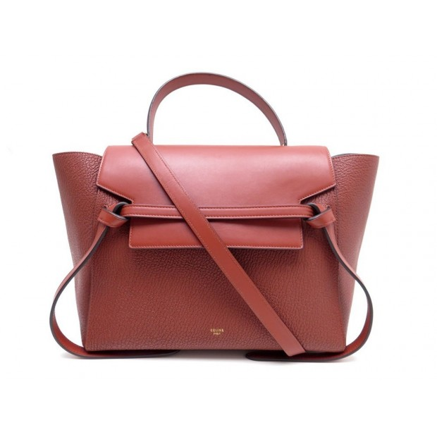 3351c3fdf3 NEUF SAC A MAIN CELINE BELT MICRO 180153ZVA BANDOULIERE CUIR ROUGE BAG 1900€