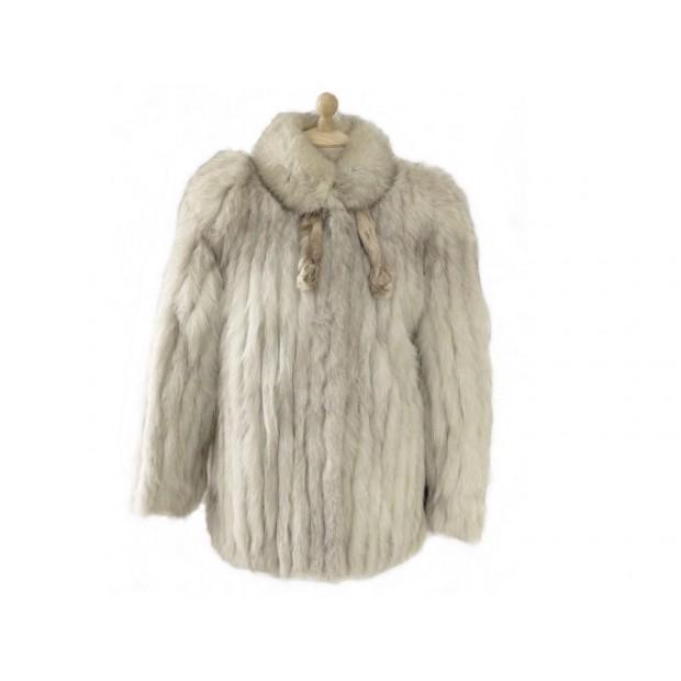 Veste manteau de fourrure