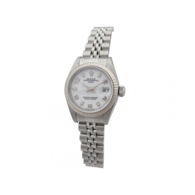 NEUF MONTRE ROLEX 69144 LADY OYSTER PERPETUAL DATE 26MM OR ACIER AUTOMATIC 6690€
