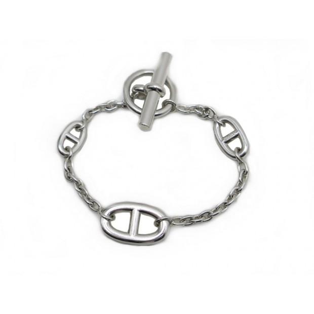 299524ae929 bracelet hermes farandole chaine d ancre 19 cm en