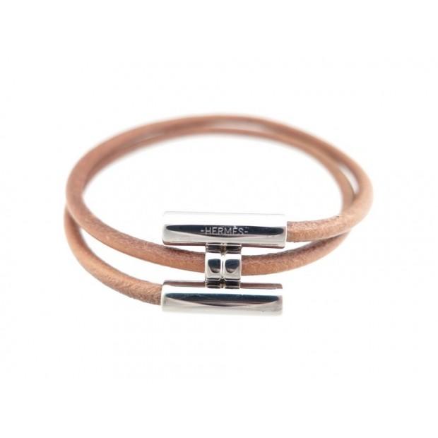 601488c42c6 bracelet hermes tournis double tourbillon cuir