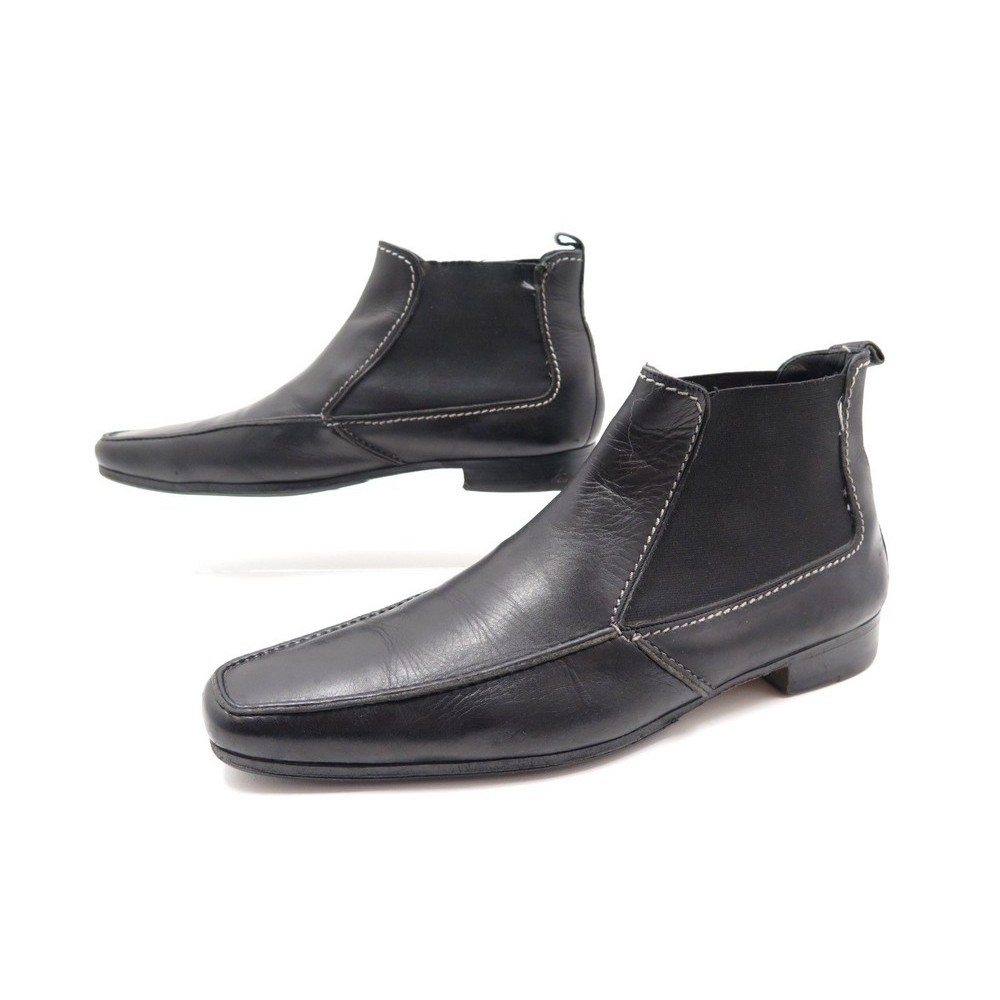 Cuir Chaussures En Laurent 40 Yves 41 Bottines Saint gwqzFg7