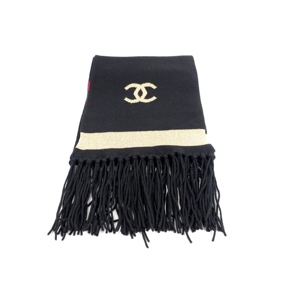echarpe chanel cc en laine et cachemire femme 5be7d3f4eef