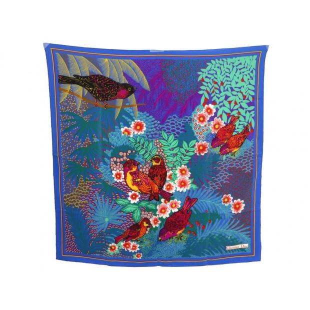 062871363f6a foulard christian dior oiseaux dans un arbre en soie