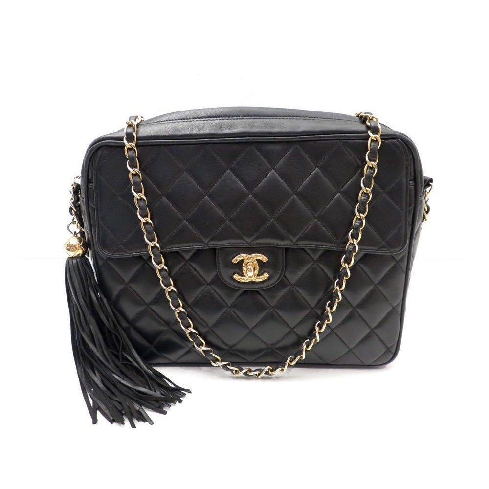 SAC A MAIN CHANEL CAMERA TIMELESS CUIR MATELASSE NOIR. Loading zoom d53a64a51d2