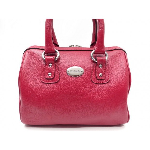 SAC A MAIN MAC DOUGLAS BOWLING DUFFLE 25 CM EN CUIR ROUGE LEATHER BAG PURSE 350€