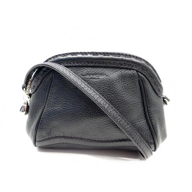 SAC A MAIN LANCEL POCHETTE BANDOULIERE 22 CM EN CUIR NOIR HAND BAG PURSE 395€