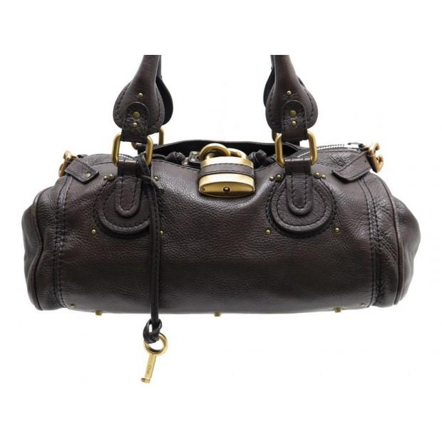 115290a563a8 sac a main chloe paddington mm cuir marron hand bag