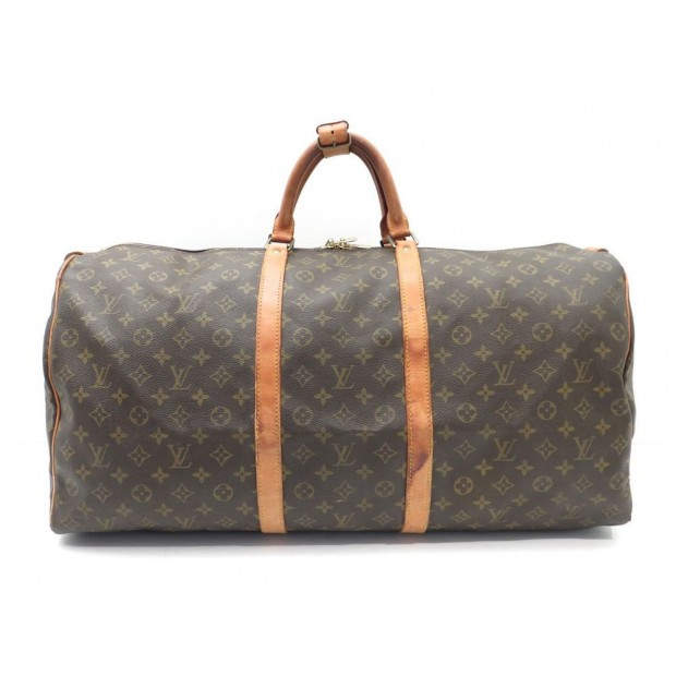 VINTAGE SAC DE VOYAGE A MAIN LOUIS VUITTON KEEPALL 60 MONOGRAM LV BAG 1050€