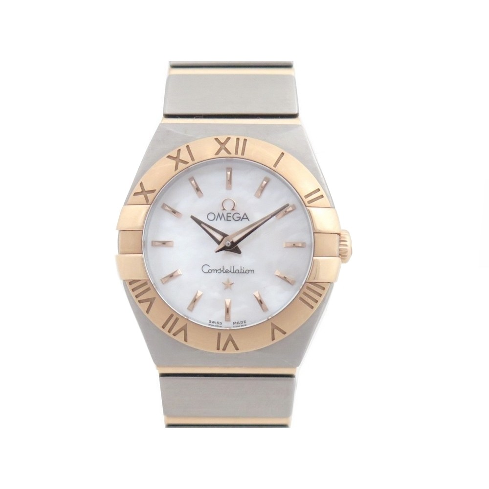 montre omega constellation or rose 18k acier 24