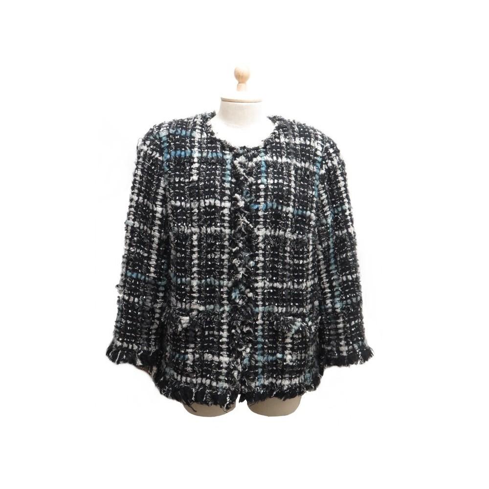 0c2b0c145e8 veste chanel p39775 taille l 50 en tweed laine noir