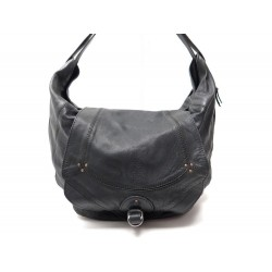 SAC A MAIN JEROME DREYFUSS BOB CUIR NOIR HAND BAG LEATHER BLACK PURSE TOTE 750€