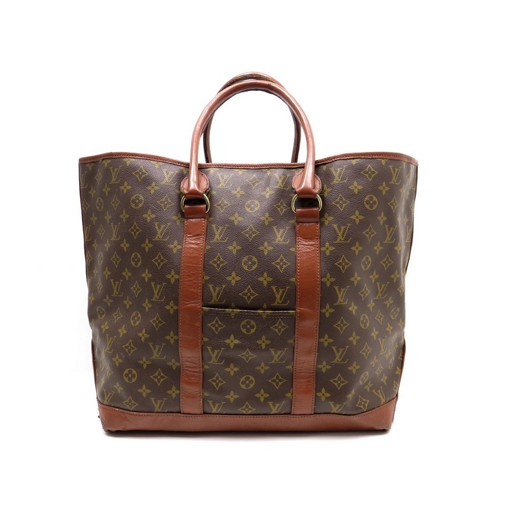 VINTAGE SAC DE VOYAGE A MAIN LOUIS VUITTON CABAS WEEK END GM MONOGRAM LV  1200€. Loading zoom 7adc72faecd