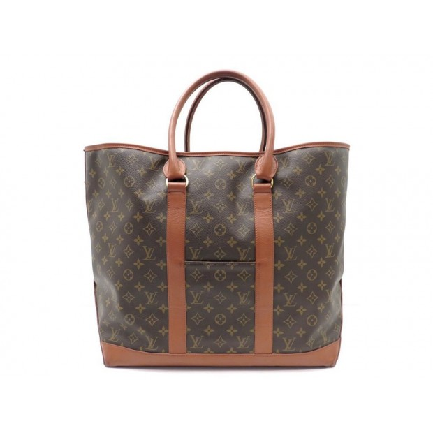 VINTAGE SAC DE VOYAGE A MAIN LOUIS VUITTON CABAS WEEK END GM MONOGRAM LV BAG