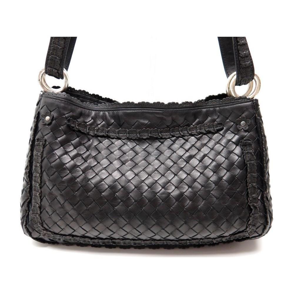 4fcc7a4466d sac a main bottega veneta 152672 cuir tresse noir