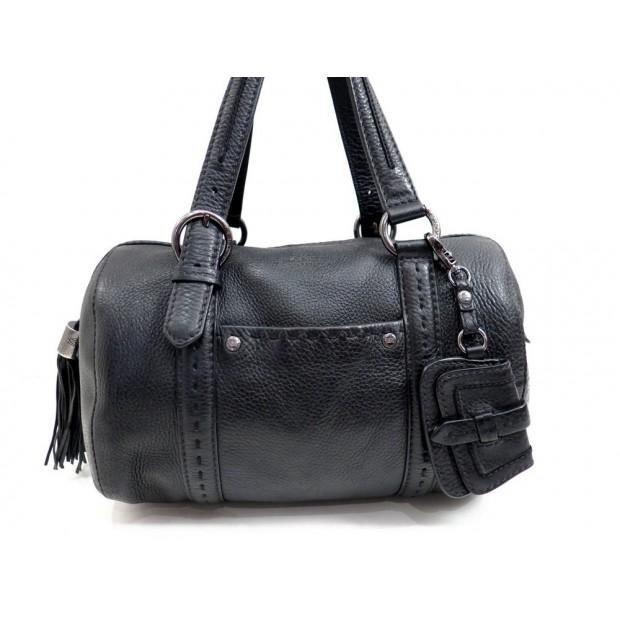 SAC A MAIN LANCEL PREMIER FLIRT BOWLING EN CUIR NOIR BLACK HAND BAG PURSE 590€
