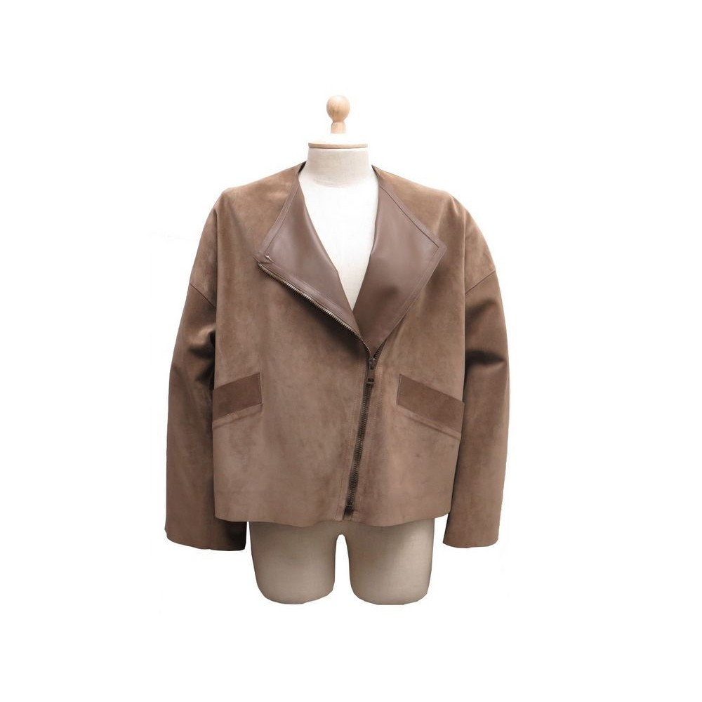 meilleur service 854cd 9cf3f veste gucci t 40 l en daim cuir marron deer suede