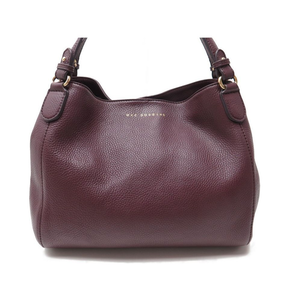 sac a main mac douglas cuir graine violet prune purple