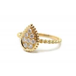 NEUF BAGUE BOUCHERON SERPENT BOHEME EN OR JAUNE & 8 DIAMANTS 0.34CT RING 2940€