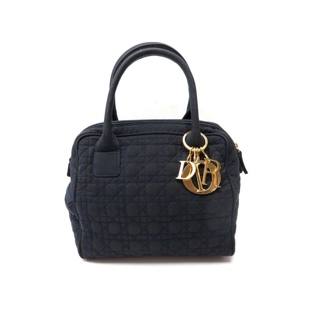 b73c39fbe4 sac a main christian dior lady en toile cannage bleue