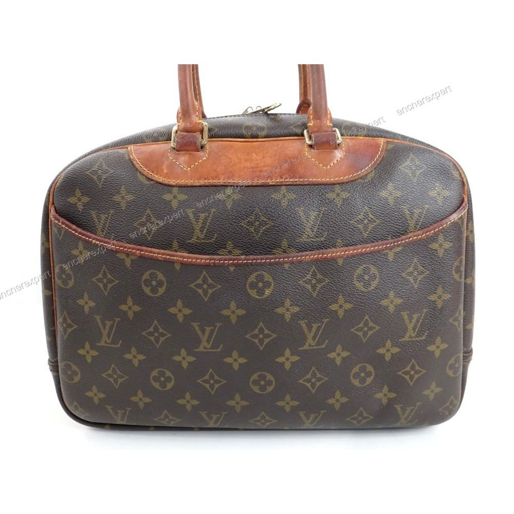 6f24dee2d354 VINTAGE SAC A MAIN LOUIS VUITTON BOWLING VANITY DEAUVILLE MONOGRAM LV BAG  1130€. Loading zoom