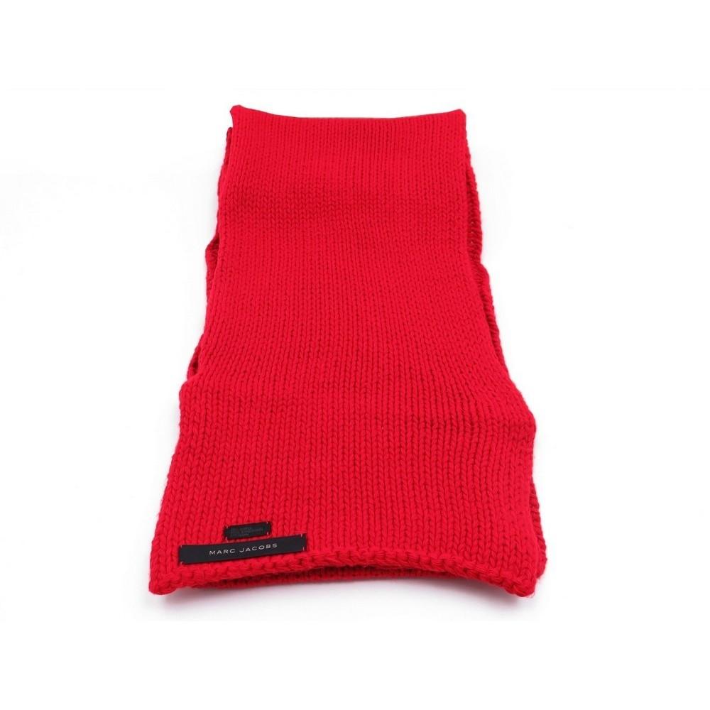 5418d3e14578 echarpe marc jacobs 230 x 23 en acrylique rouge