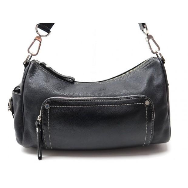 Sac Main Cuir Porte Noir Epaule A Longchamp En Leather SULMVpGqz