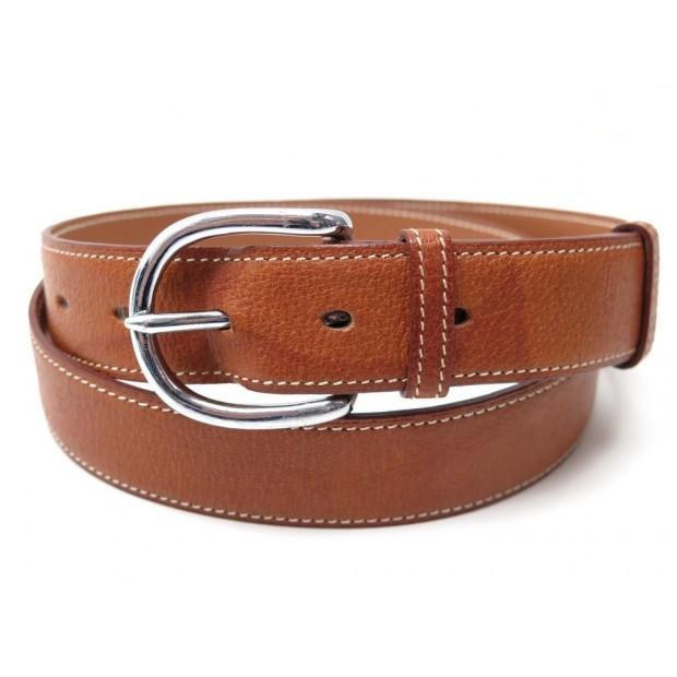 26eae2f463b ceinture hermes taille 95 en cuir marron gold boucle