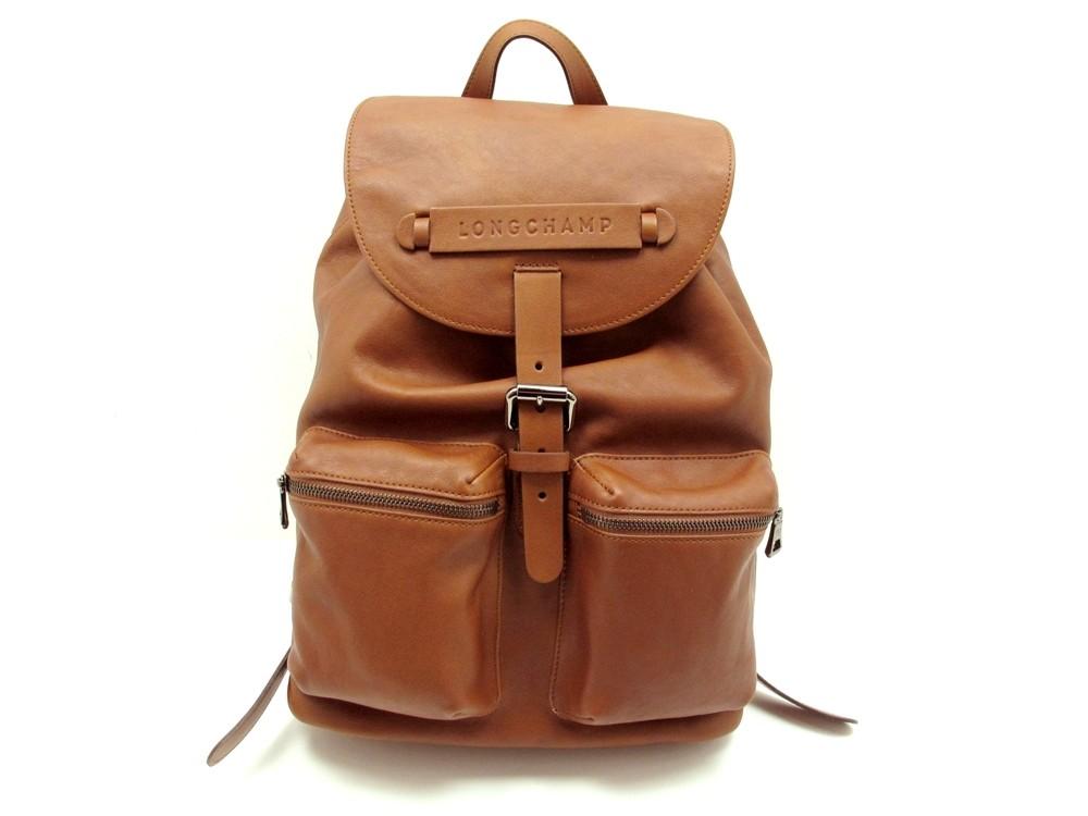 sac a dos longchamp 3d l1610770 en cuir marron