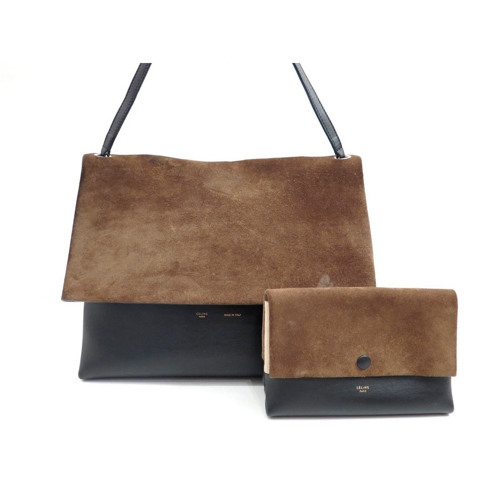 sac a main celine all soft 172183 daim marron cuir. Black Bedroom Furniture Sets. Home Design Ideas
