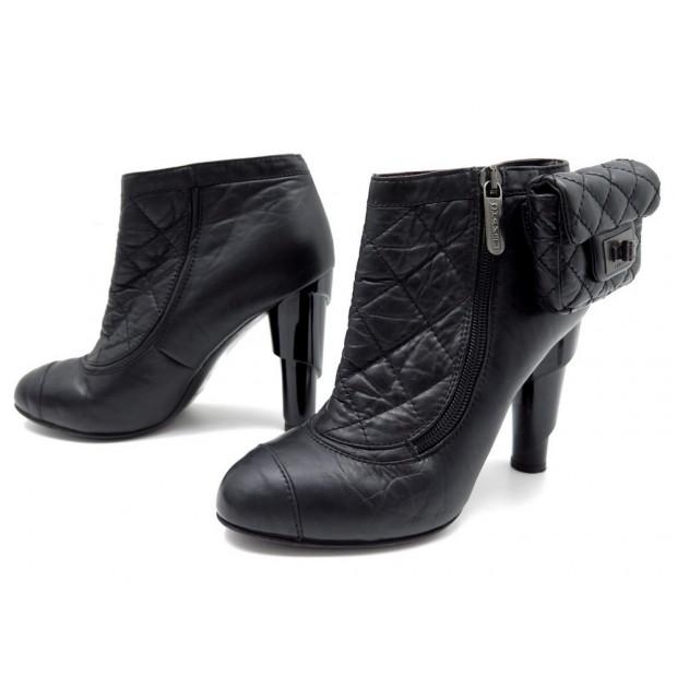 chaussures chanel bottines g26164 37 avec pochette 6e645cf679d