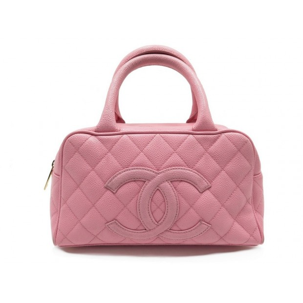 sac a main chanel bowling boston 27 cm en cuir caviar ffc654e731b