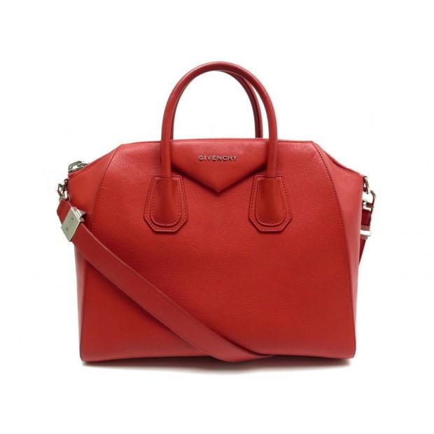 SAC A MAIN GIVENCHY ANTIGONA GM EN CUIR ROUGE BANDOULIERE HAND BAG PURSE 2190€