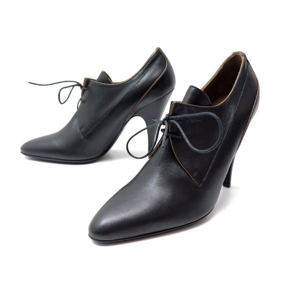 38 Oynwm80pvn Cuir Noir Chaussures 5 Hermes Escarpins 80knXONPw