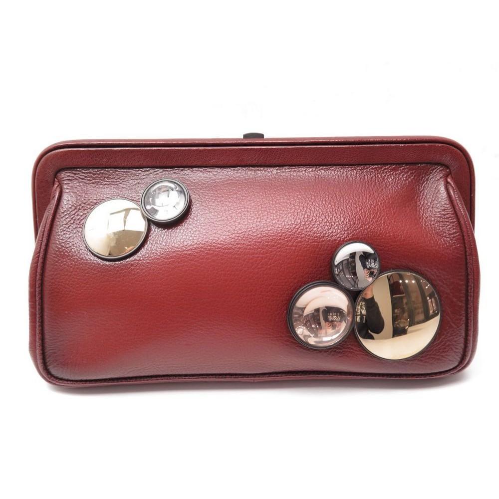 sac a main bottega veneta pochette en cuir rouge 40bdab10f861b