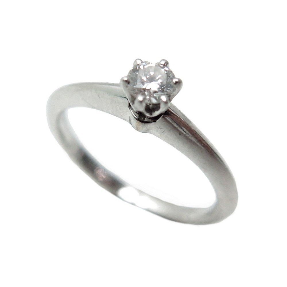 37c4ec915a6 NEUF BAGUE TIFFANY   CO SETTING SOLITAIRE DIAMANT 0.19KT PLATINE. Loading  zoom