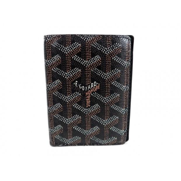PORTE CARTE DE CREDIT GOYARD 5 CC EN TOILE NOIR BLACK CANVAS CARD HOLDER 350€