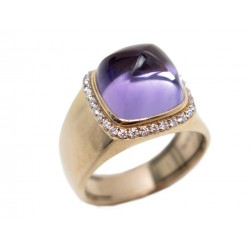 BAGUE FRED PAIN DE SUCRE MM T 56 EN OR ROSE AMETHYSTE & DIAMANTS RING 4500€