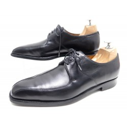 CHAUSSURES JOHN LOBB SHERBORNE DERBY 6E 40 CUIR NOIR BLACK LEATHER SHOES 1360€