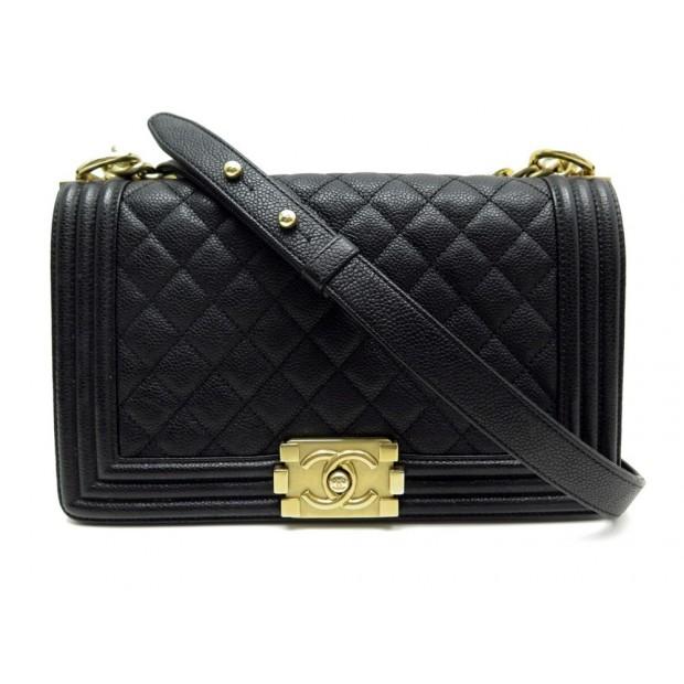 3e4897ac6816 sac a main chanel boy medium en cuir caviar