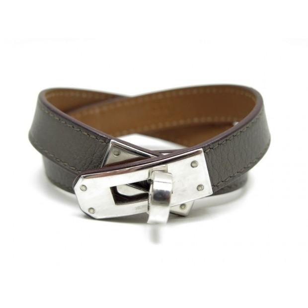 4c702eeafad bracelet hermes kelly double tour t 15 en cuir etoupe